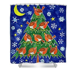 The Robins Chorus Shower Curtain