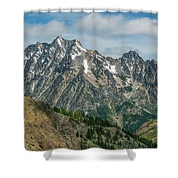 The Rock At Mount Stuart Shower Curtain by Ken Stanback