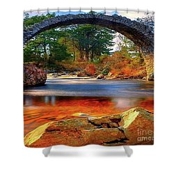 The Rock Bridge Shower Curtain by Rod Jellison