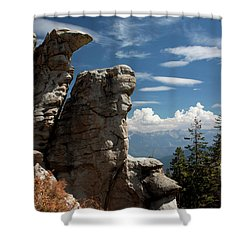The Rock Formation Shower Curtain