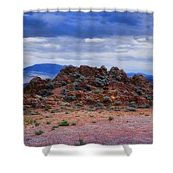 The Rock Stops Here Shower Curtain by B Wayne Mullins