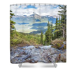 The Rockies Shower Curtain