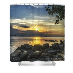 The Rocks At Dusk Shower Curtain