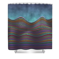 The Rolling Hills Of Subtle Differences Shower Curtain