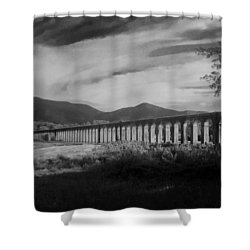 The Roman Aqueducts Shower Curtain