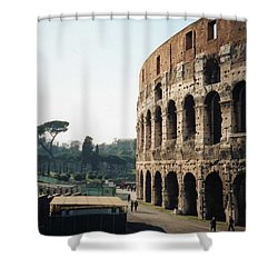 The Roman Colosseum Shower Curtain by Marna Edwards Flavell