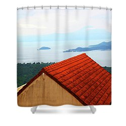 The Roof Be Told Shower Curtain