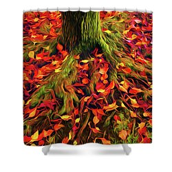 The Root Of Fall Shower Curtain