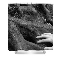 The Roots Shower Curtain by Daniel Csoka