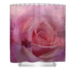 The Rose And The Sea Shower Curtain by Wallaroo Images