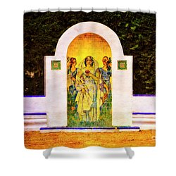 Shower Curtain featuring the photograph The Rose In The Garden - Seville by Mary Machare