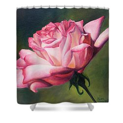 Shower Curtain featuring the painting The Rose by Lori Brackett