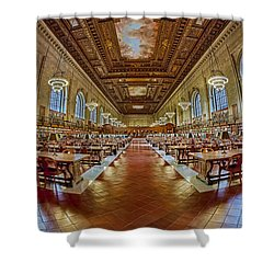 The Rose Main Reading Room Nypl Shower Curtain by Susan Candelario