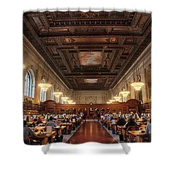Shower Curtain featuring the photograph The Rose Reading Room II by Jessica Jenney