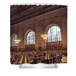 Shower Curtain featuring the photograph The Rose Reading Room by Jessica Jenney