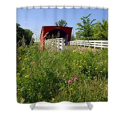 The Roseman Bridge In Madison County Iowa Shower Curtain