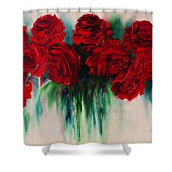 The Roses Of My Summer Shower Curtain