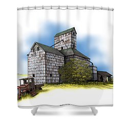 The Ross Elevator Autumn Shower Curtain