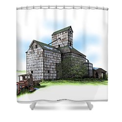 The Ross Elevator Spring Shower Curtain