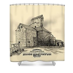 The Ross Elevator Version 2 Shower Curtain by Scott Ross