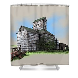 The Ross Elevator Version 5 Shower Curtain by Scott Ross