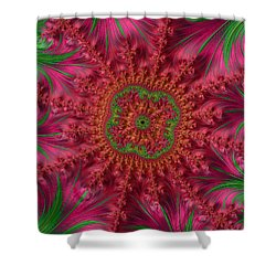 Shower Curtain featuring the photograph The Rosy Center Of Things by Ronda Broatch