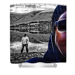 The Rough And The Rugged Shower Curtain by ISAW Gallery