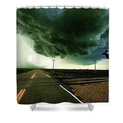 The Rough Road Ahead Shower Curtain
