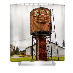 The Roy Water Tower Shower Curtain