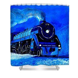 The Royal Blue Express Shower Curtain
