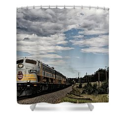 The Royal Canadian Pacific  Shower Curtain