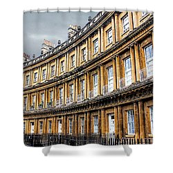 Shower Curtain featuring the photograph The Royal Crescent, Bath by Wallaroo Images