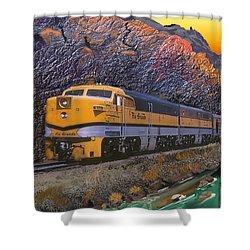 The Royal Gorge Shower Curtain by J Griff Griffin