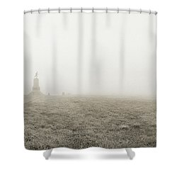 The Running Man Shower Curtain by Jan W Faul