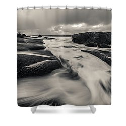 The Rush Of The North Sea Shower Curtain