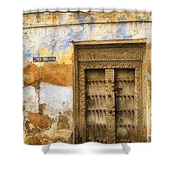 The Rustic Door Shower Curtain