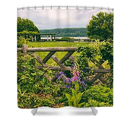 The Rustic Fence Shower Curtain by Jessica Jenney