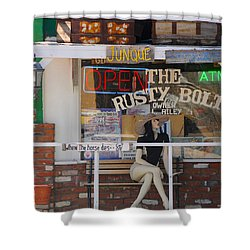 The Rusty Bolt - Seligman, Historic Route 66 Shower Curtain