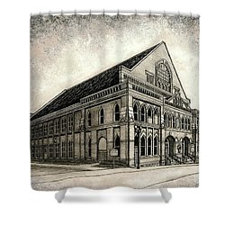 Shower Curtain featuring the painting The Ryman by Janet King
