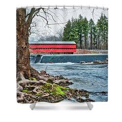 Shower Curtain featuring the photograph The Sachs by Mark Dodd