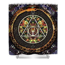 The Sacred Alchemy Of Life Shower Curtain by Iowan Stone-Flowers