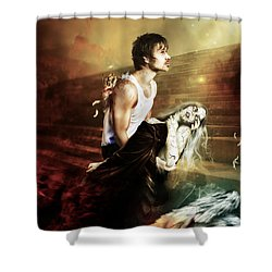 The Sacrifice Shower Curtain by Mary Hood