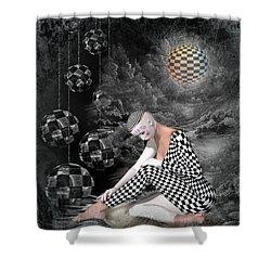 The Sad Pierrot Shower Curtain