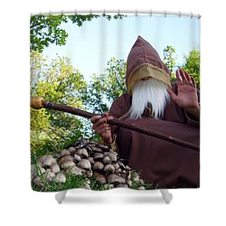 The Sage With Shrooms Shower Curtain