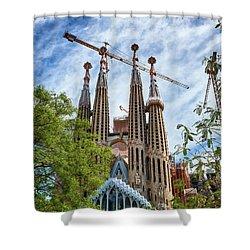 The Sagrada Familia Shower Curtain