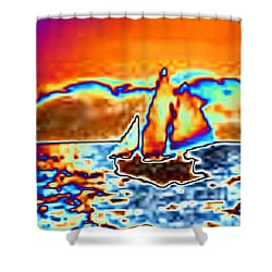 The Sail Shower Curtain by Tim Allen