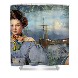 The Sailor And The Maiden Shower Curtain