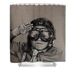 The Salute Shower Curtain by Jean Cormier