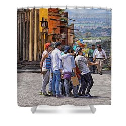 The San Miguel Selfie Shower Curtain
