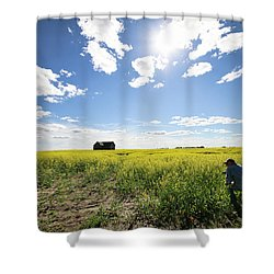 The Saskatchewan Prairies Shower Curtain
